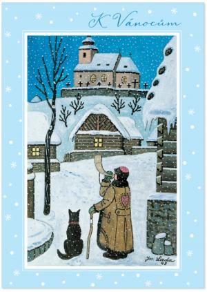 hrací pohlednice jako vánoční přání