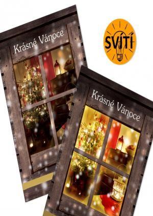 svíticí pohlednice jako vánoční přání